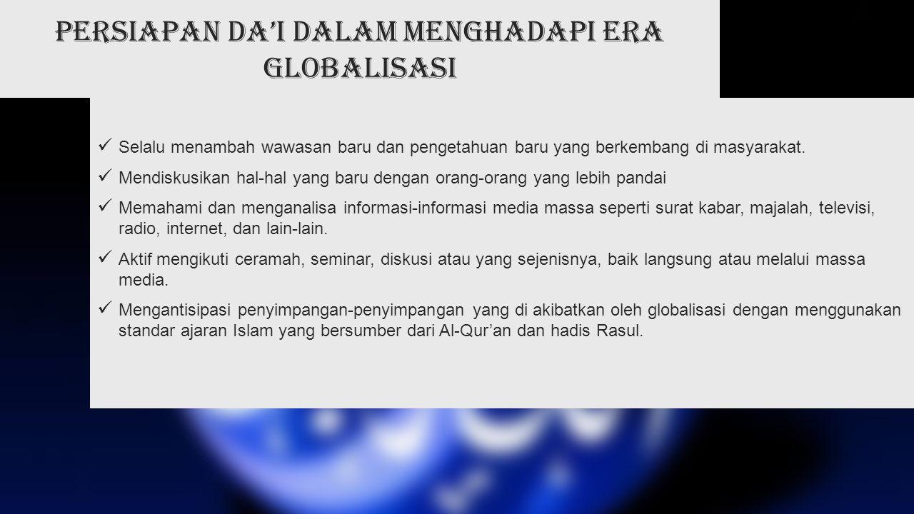 Persiapan da'i dalam menghadapi era globalisasi