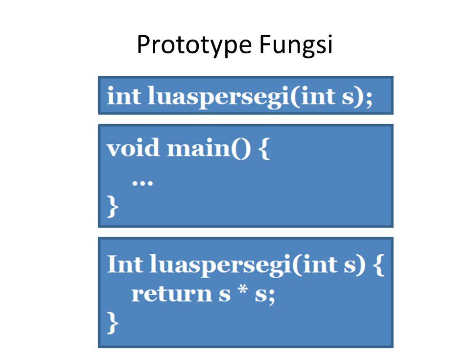 Prototype Fungsi