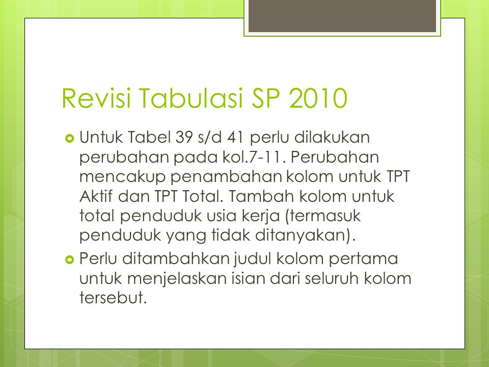 Revisi Tabulasi SP 2010
