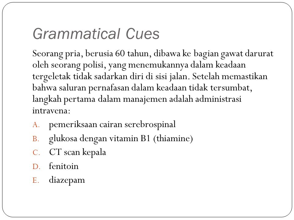 Grammatical Cues