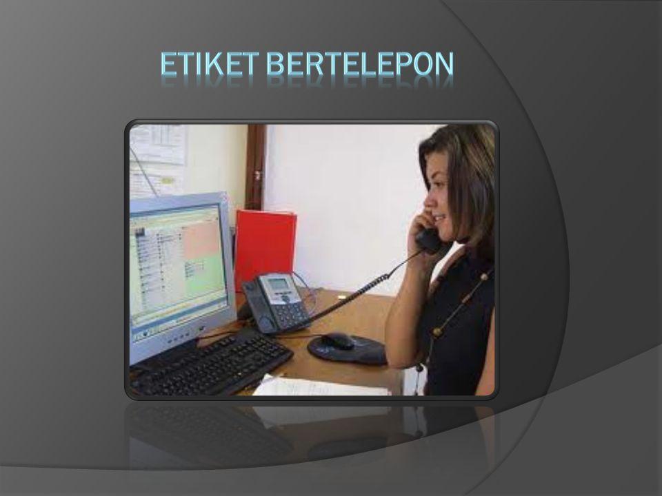 ETIKET BERTELEPON