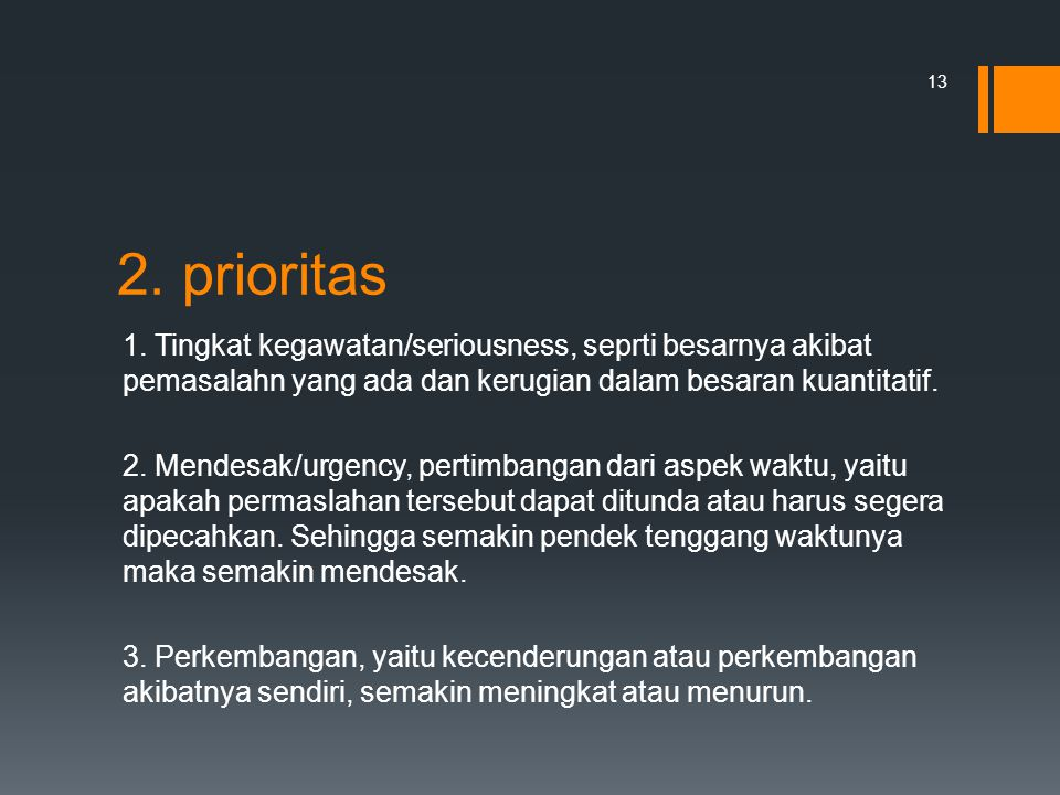 2. prioritas