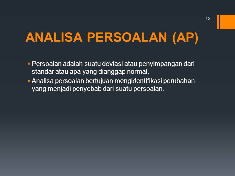 ANALISA PERSOALAN (AP)