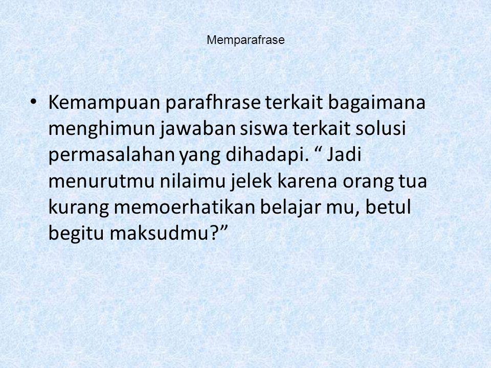 Memparafrase