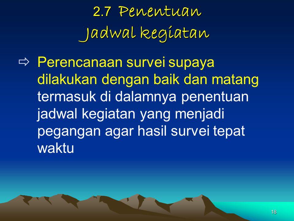 2.7 Penentuan Jadwal kegiatan