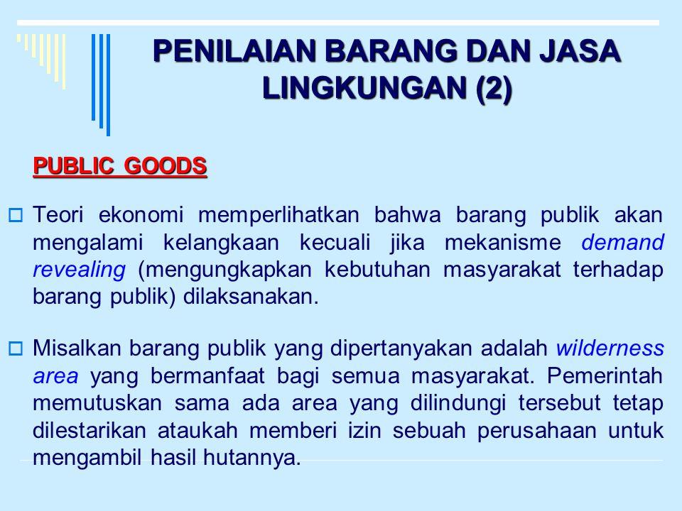 PENILAIAN BARANG DAN JASA LINGKUNGAN (2)
