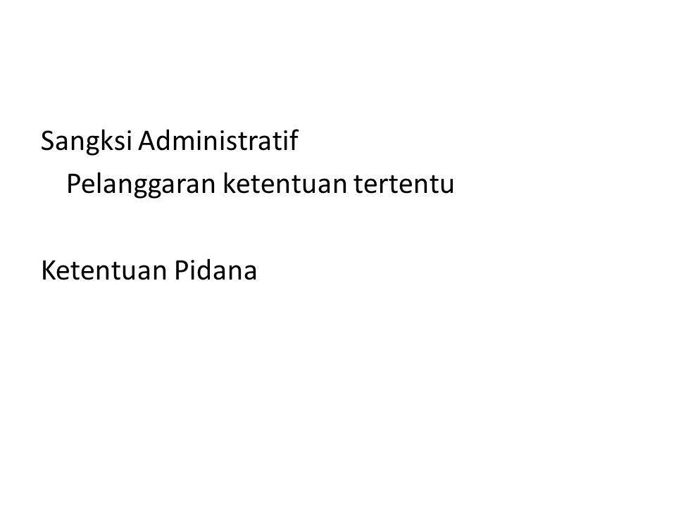 Sangksi Administratif