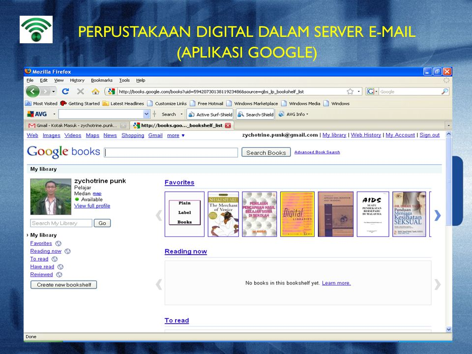 PERPUSTAKAAN DIGITAL DALAM SERVER E-MAIL (APLIKASI GOOGLE)