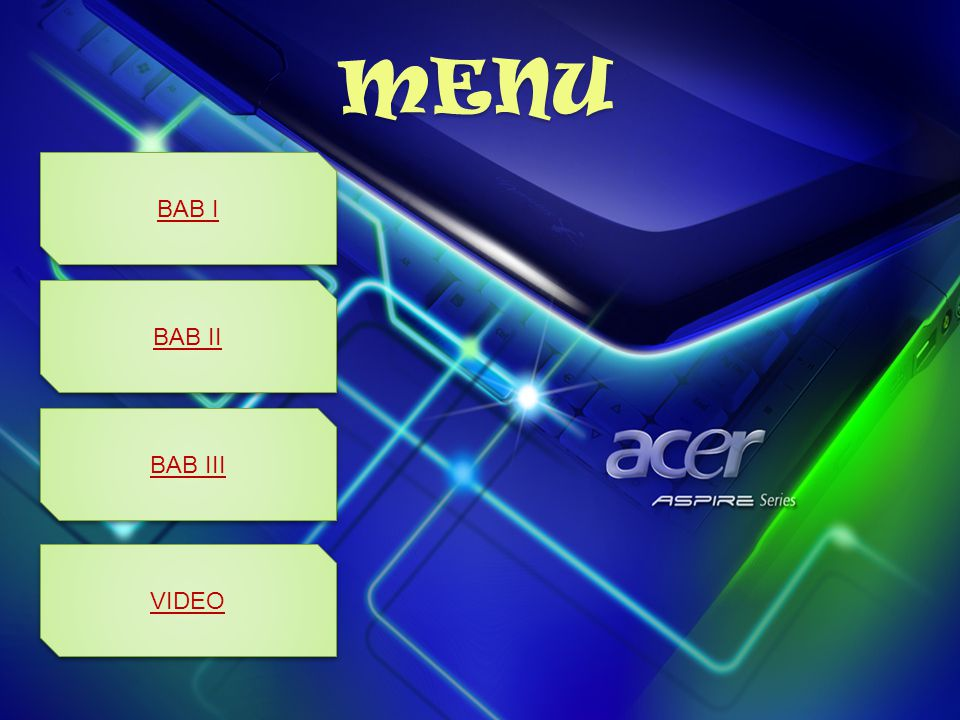 MENU BAB I BAB II BAB III VIDEO