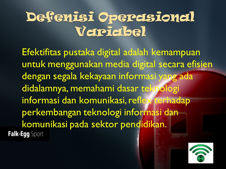 Defenisi Operasional Variabel