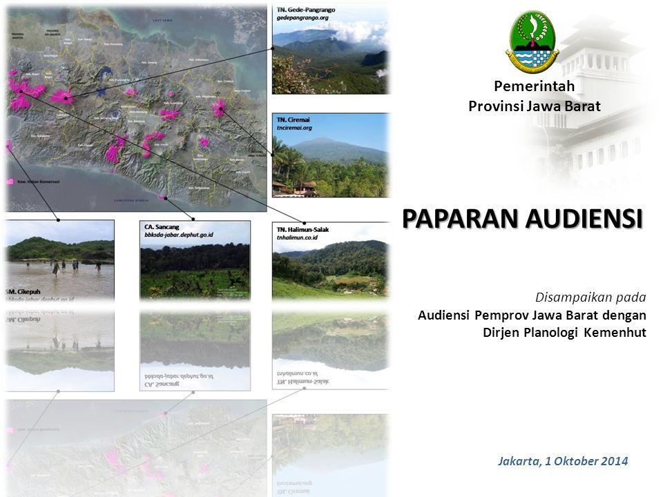 PAPARAN AUDIENSI Pemerintah Provinsi Jawa Barat Disampaikan pada