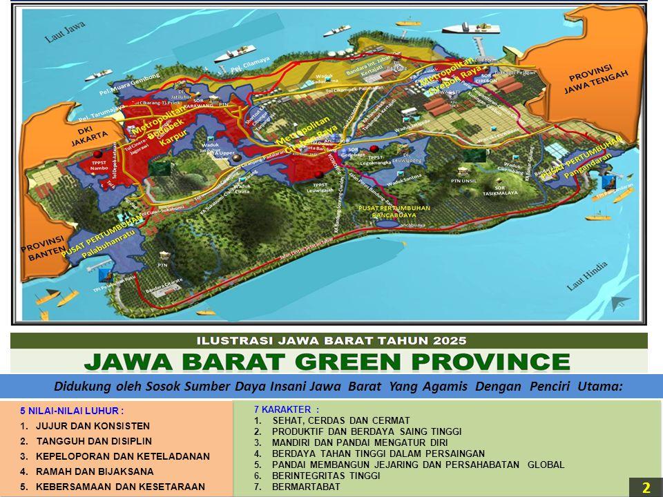 Didukung oleh Sosok Sumber Daya Insani Jawa Barat Yang Agamis Dengan Penciri Utama: