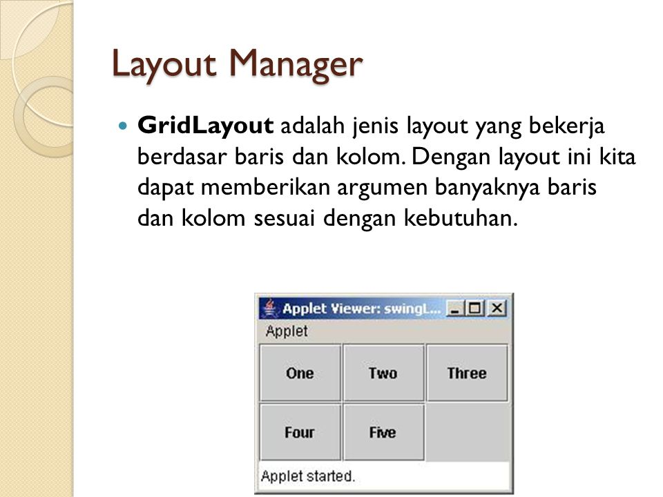 Layout Manager