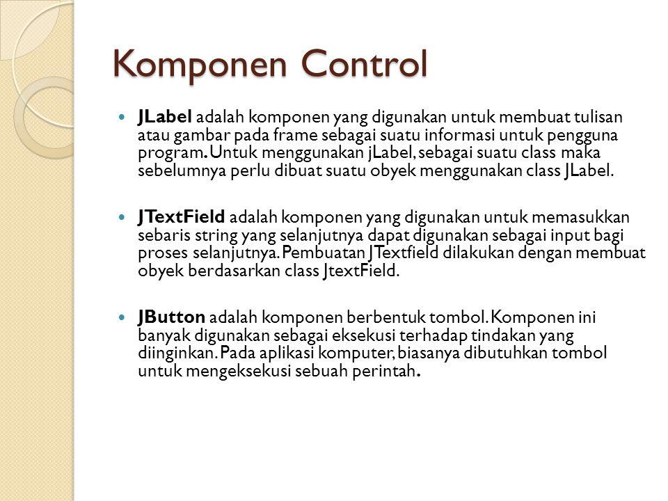 Komponen Control