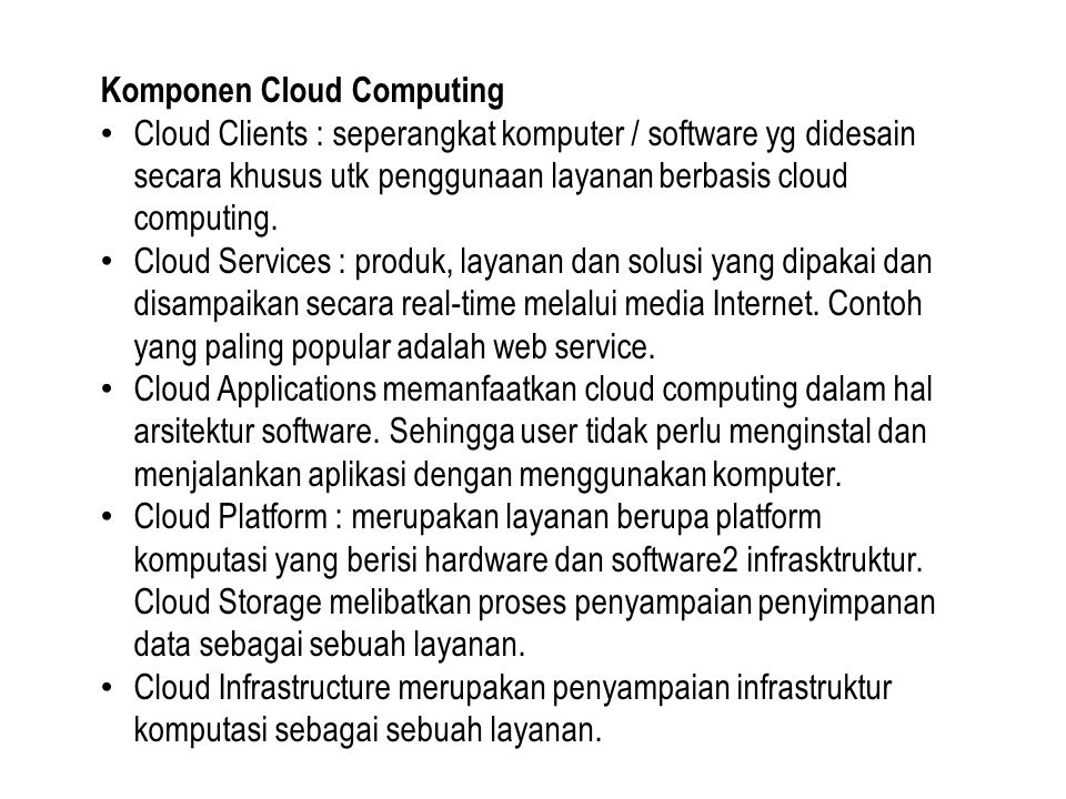 Komponen Cloud Computing
