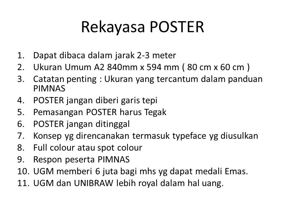 Rekayasa POSTER Dapat dibaca dalam jarak 2-3 meter