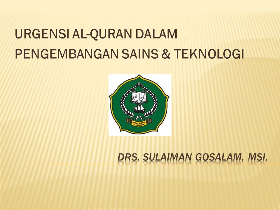 Drs. Sulaiman Gosalam, MSi.