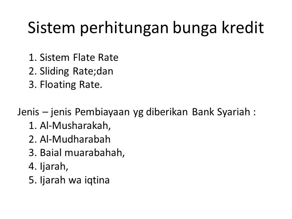 Sistem perhitungan bunga kredit