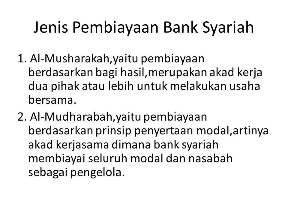 Jenis Pembiayaan Bank Syariah