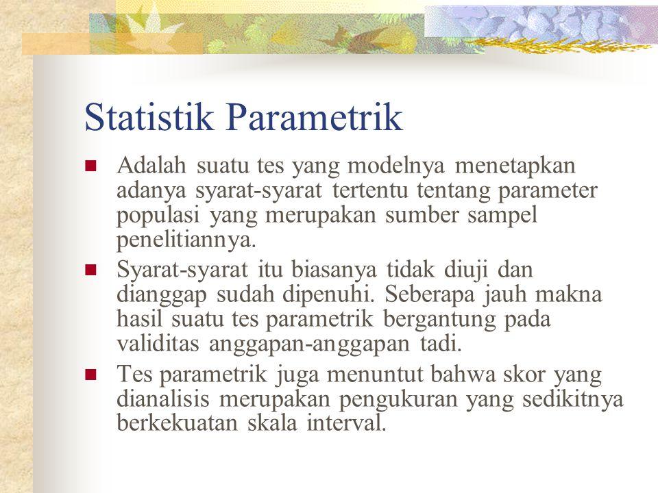 Statistik Parametrik