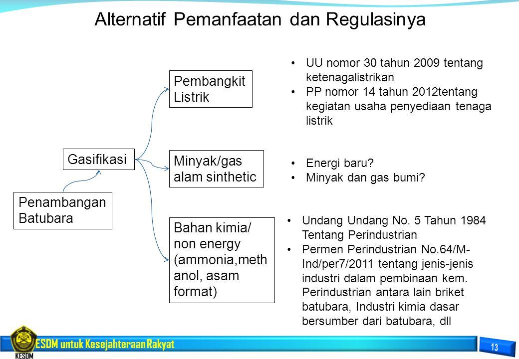Alternatif Pemanfaatan dan Regulasinya
