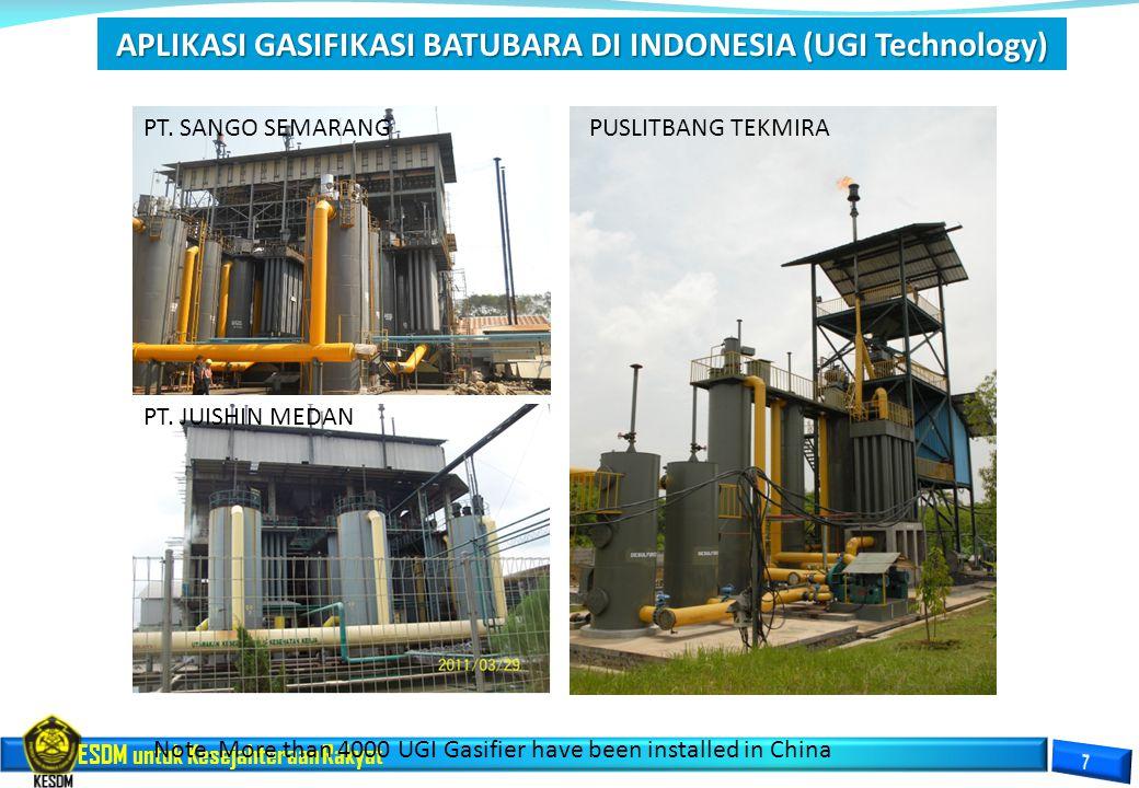 APLIKASI GASIFIKASI BATUBARA DI INDONESIA (UGI Technology)