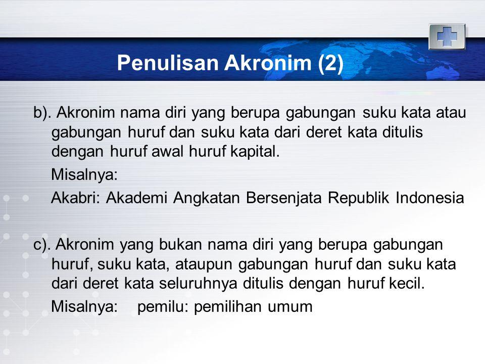 Penulisan Akronim (2)