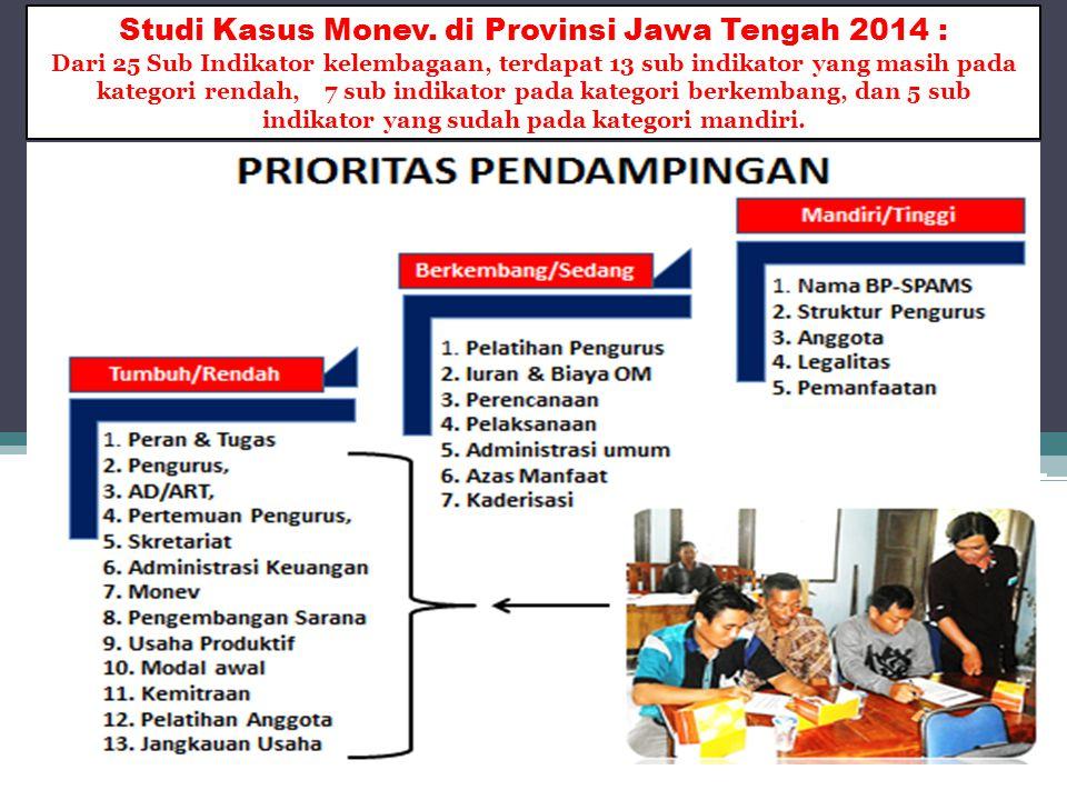 Studi Kasus Monev. di Provinsi Jawa Tengah 2014 :