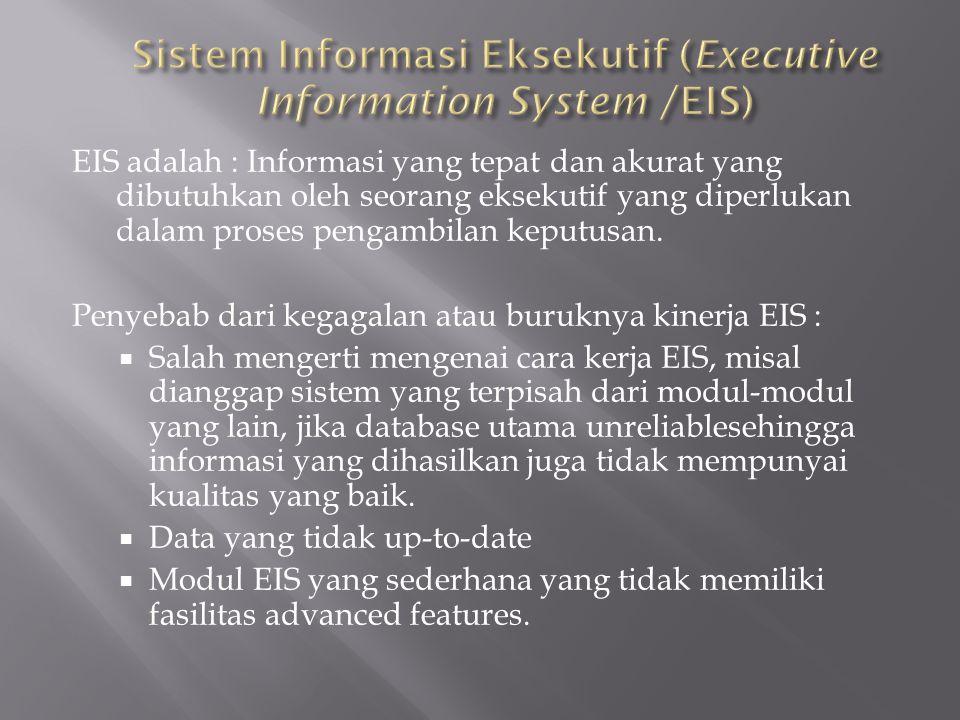 Sistem Informasi Eksekutif (Executive Information System /EIS)