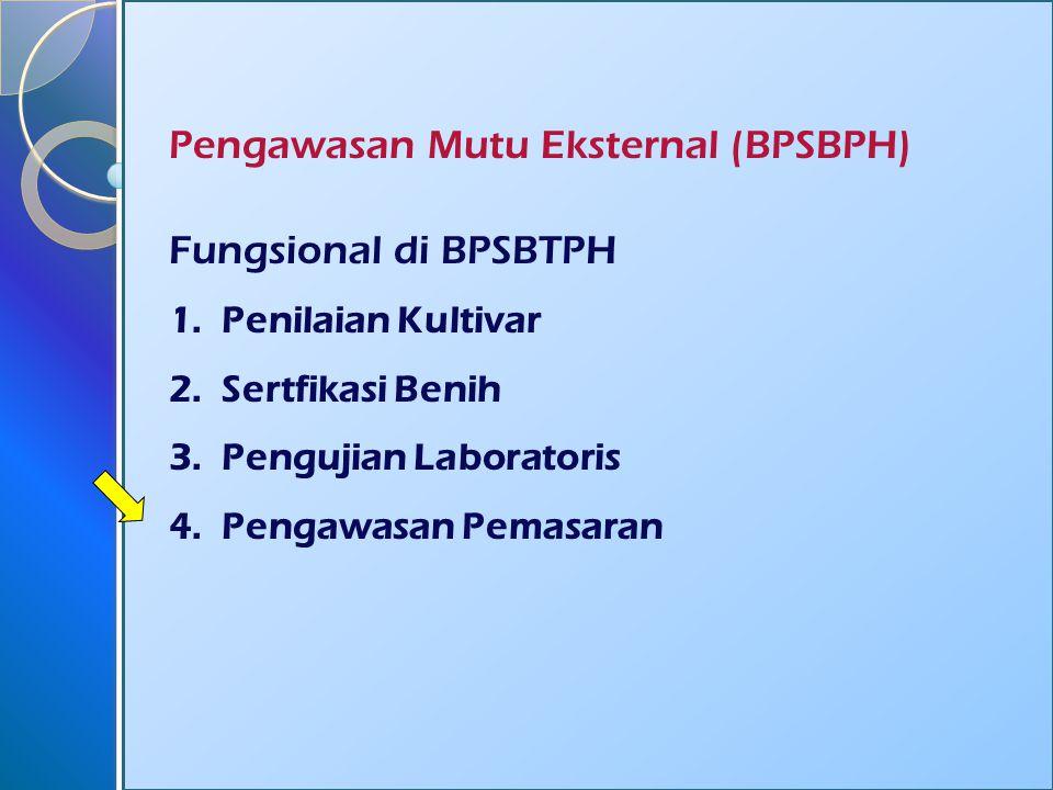 Pengawasan Mutu Eksternal (BPSBPH) Fungsional di BPSBTPH