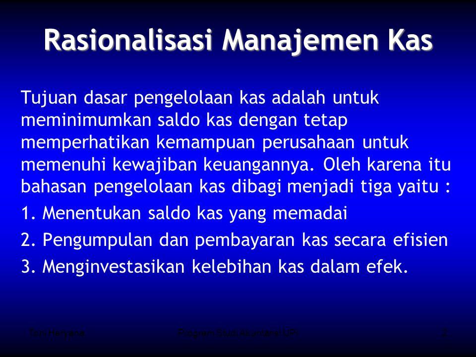 Rasionalisasi Manajemen Kas