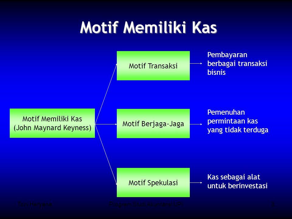 Motif Memiliki Kas Pembayaran berbagai transaksi bisnis