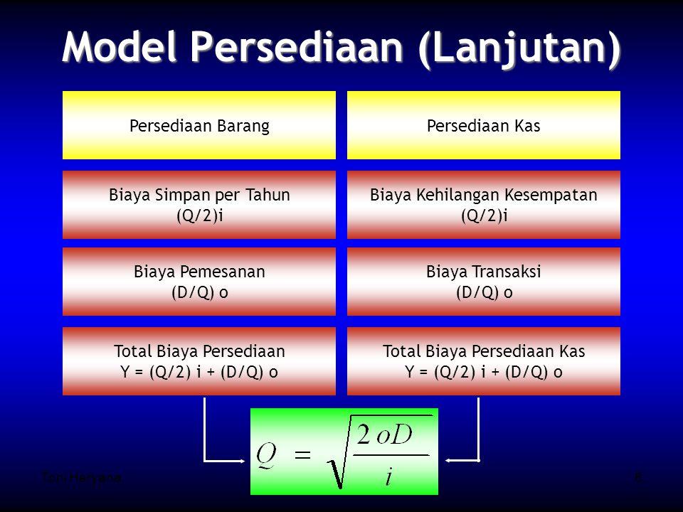 Model Persediaan (Lanjutan)