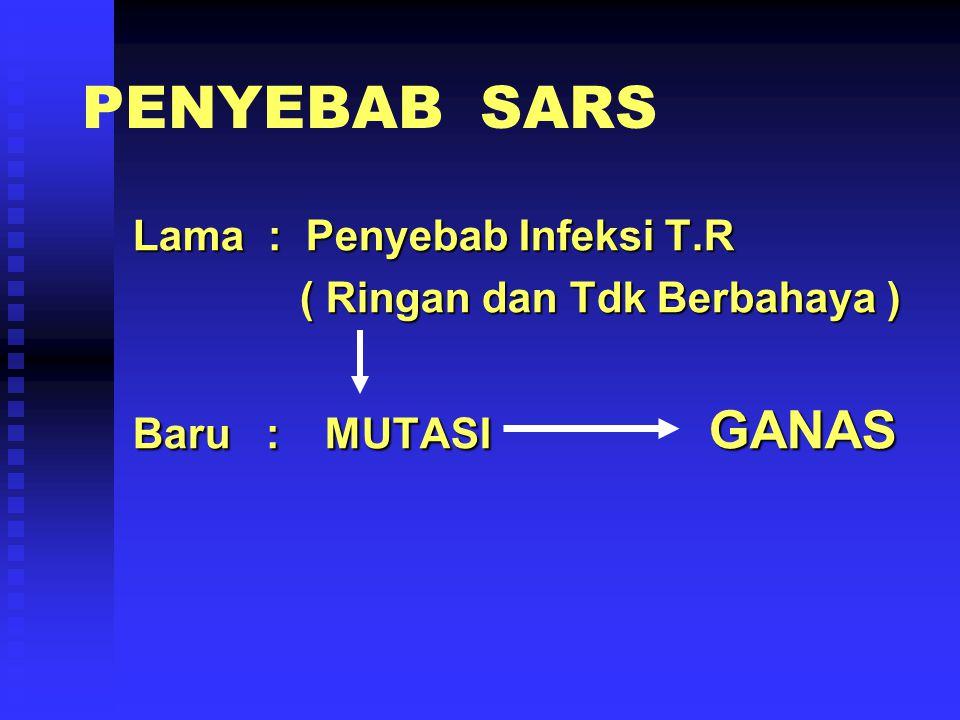 PENYEBAB SARS Lama : Penyebab Infeksi T.R ( Ringan dan Tdk Berbahaya )