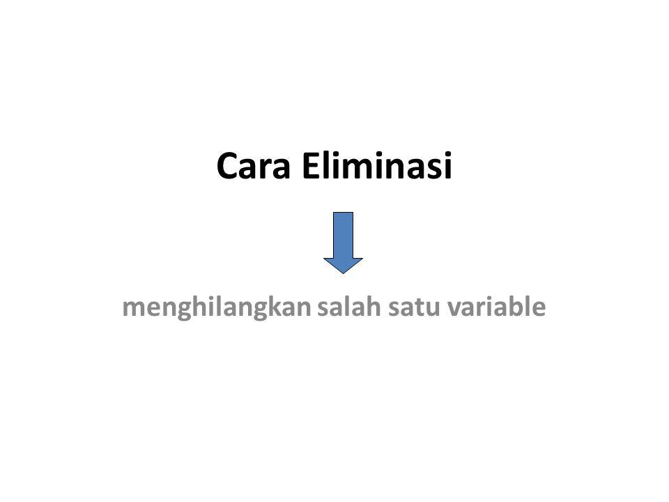 menghilangkan salah satu variable