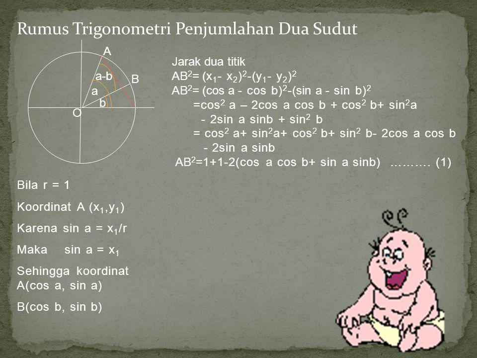 Rumus Trigonometri Penjumlahan Dua Sudut