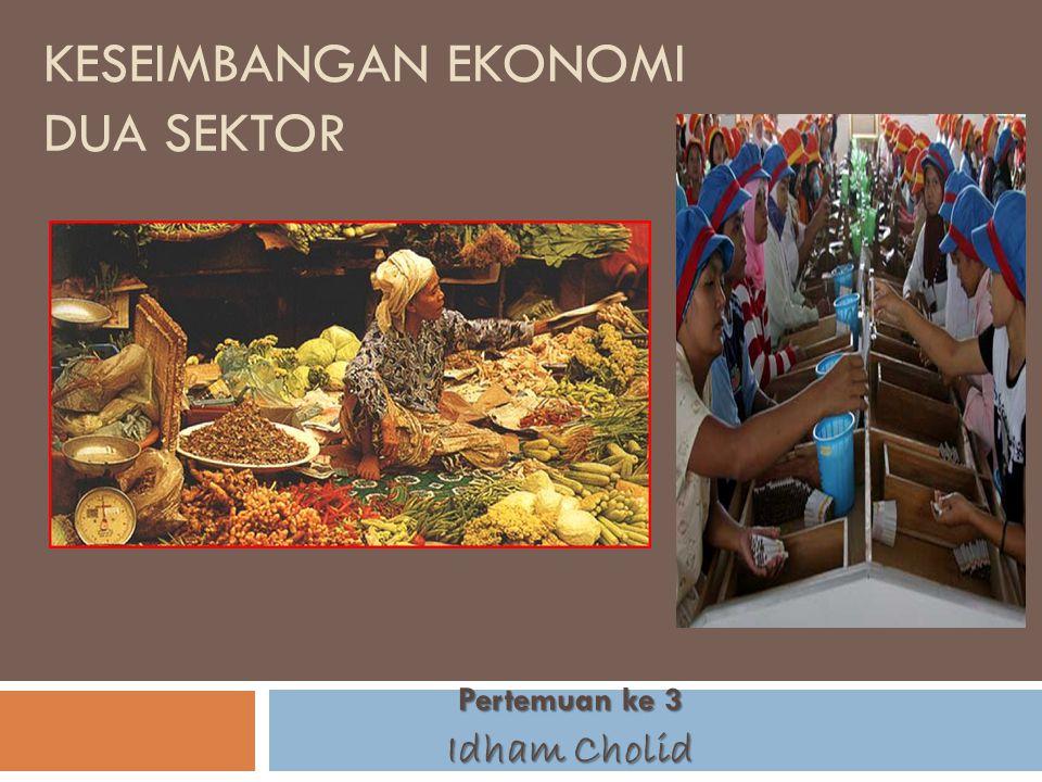 Keseimbangan ekonomi dua sektor