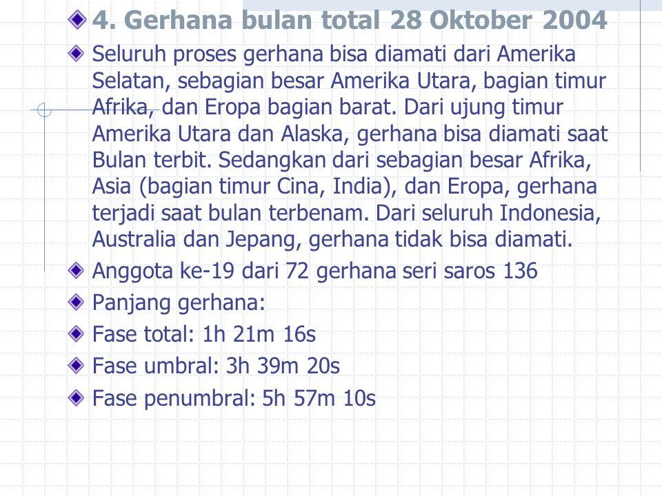4. Gerhana bulan total 28 Oktober 2004