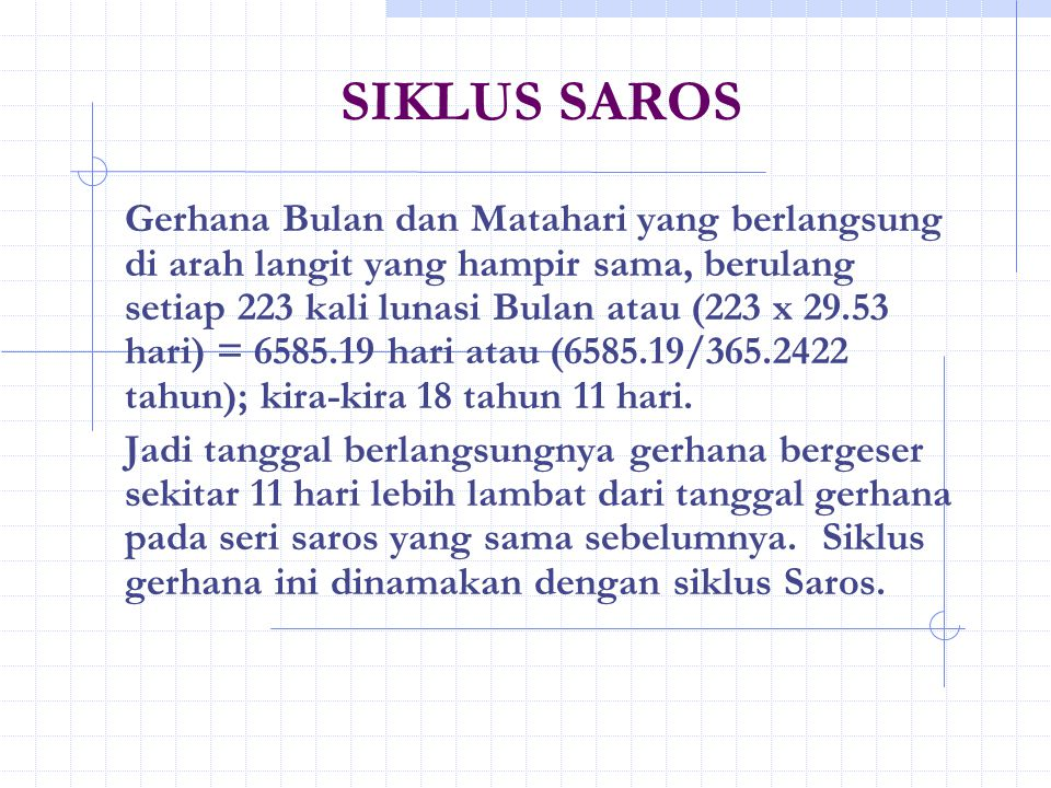 SIKLUS SAROS
