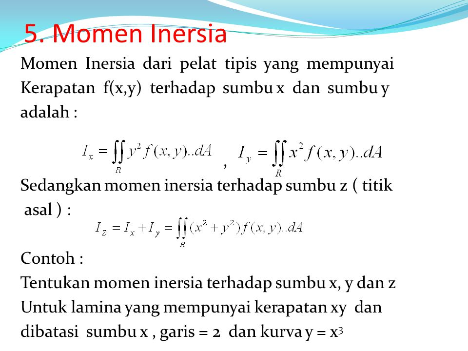 5. Momen Inersia
