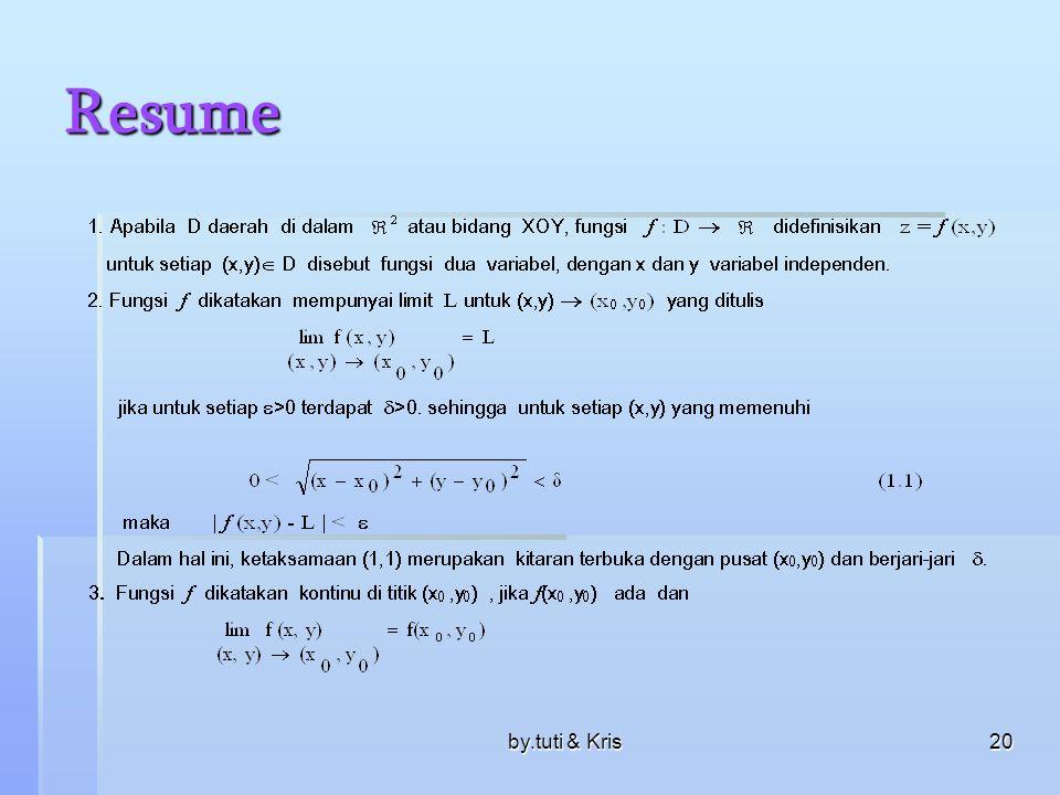 Resume by.tuti & Kris