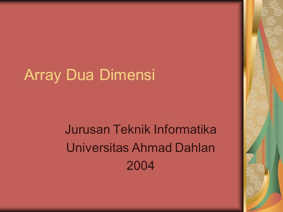 Jurusan Teknik Informatika Universitas Ahmad Dahlan 2004