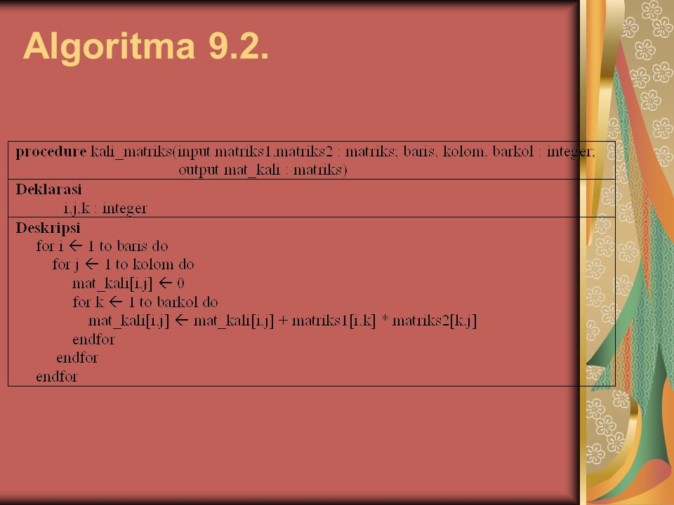 Algoritma 9.2.