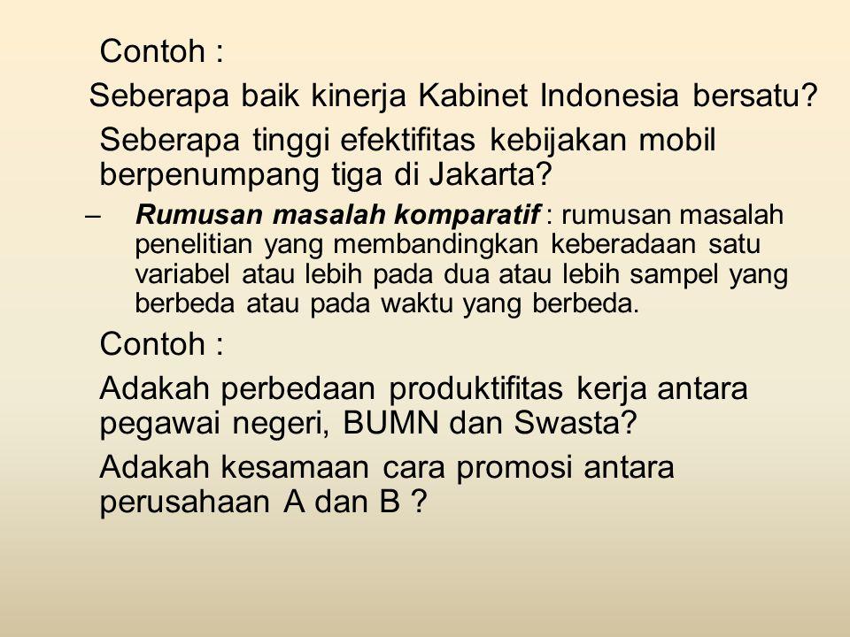 Seberapa baik kinerja Kabinet Indonesia bersatu