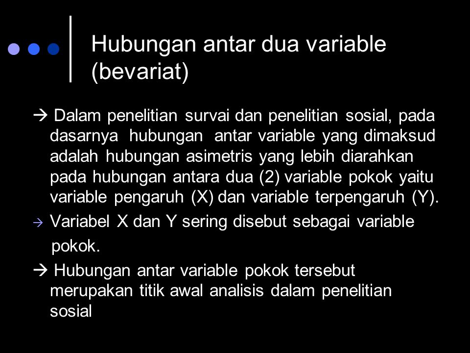 Hubungan antar dua variable (bevariat)