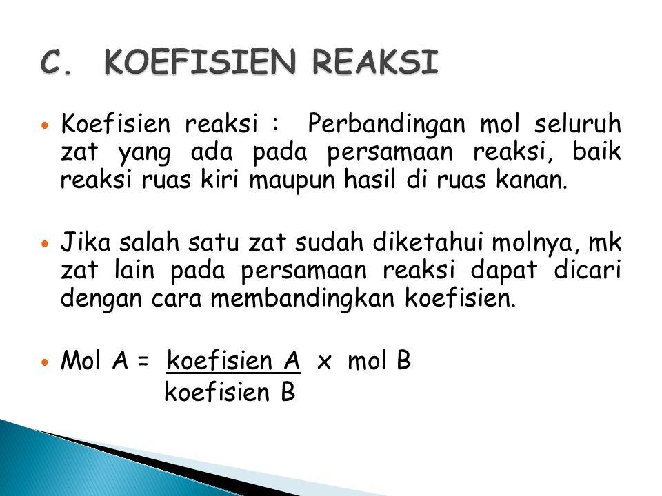 C. KOEFISIEN REAKSI