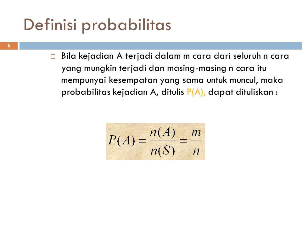 Definisi probabilitas