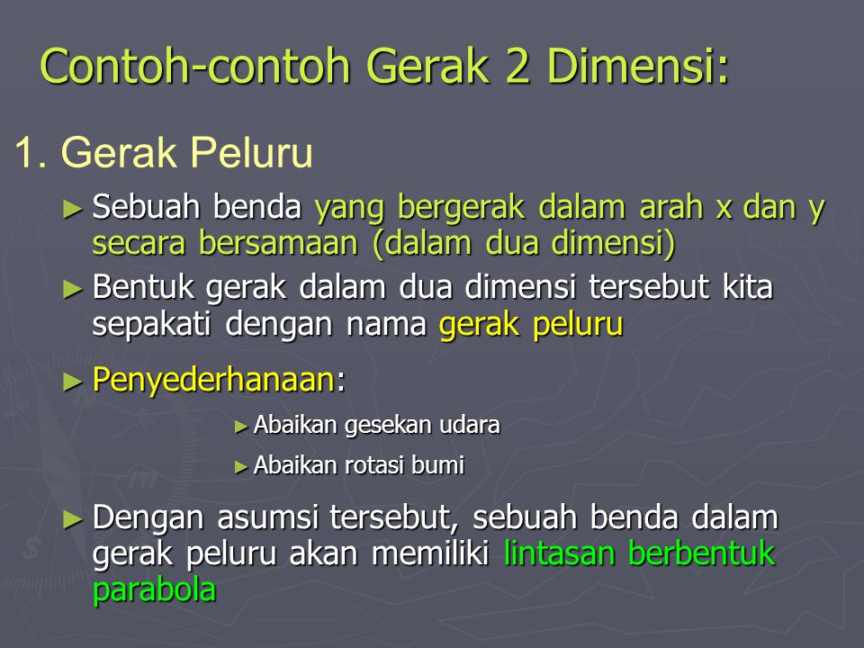 Contoh-contoh Gerak 2 Dimensi: