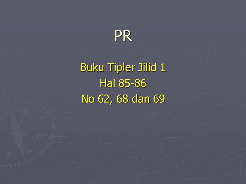 PR Buku Tipler Jilid 1 Hal 85-86 No 62, 68 dan 69