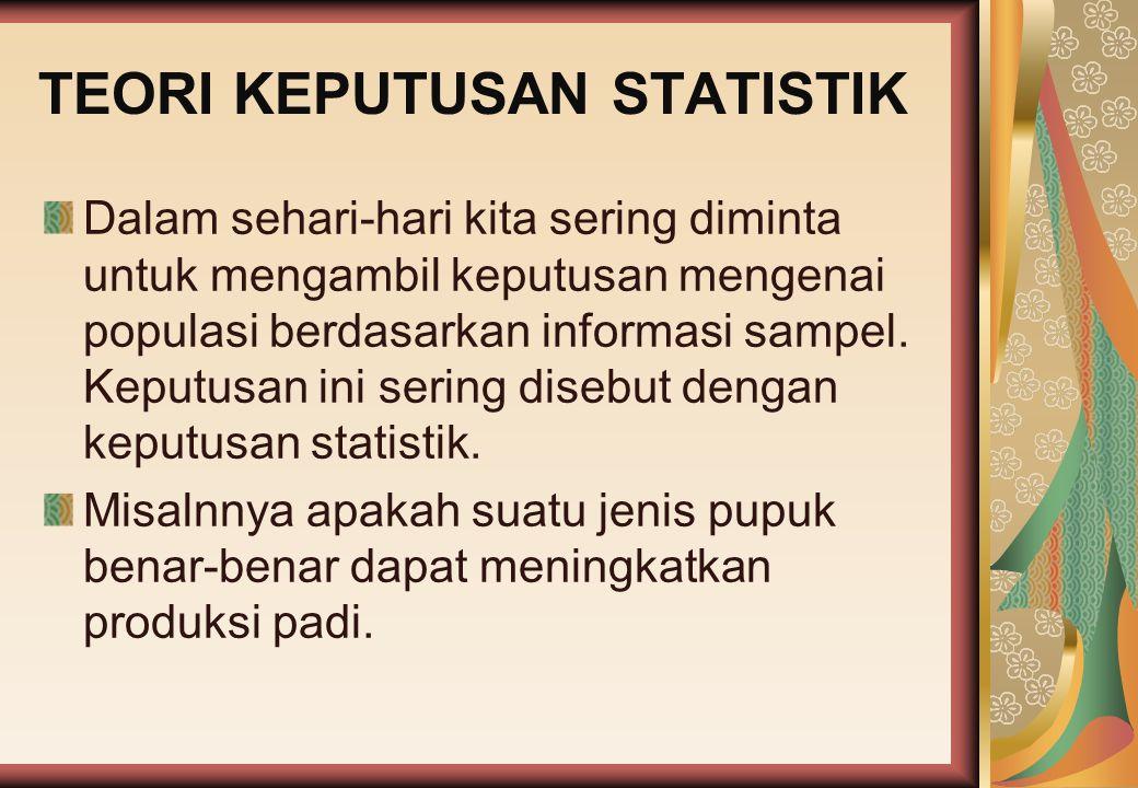 TEORI KEPUTUSAN STATISTIK